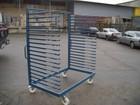 Lentų džiovinimo vežimėlis - vienos sekcijos