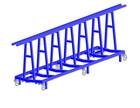 Vežimėlis skydams transportuoti 6 metrų ilgio, keliamoji galia 5 tonos