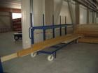Vežimėlis skirtas lentoms ir tašams transportuoti iki 3 tonų.