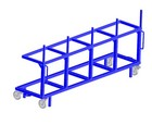 Vežimėlis skirtas lentoms ir tašams transportuoti iki 3 tonų